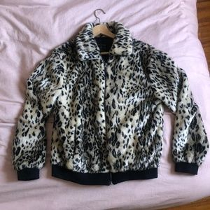 Men's Leopard Print Bomber Jacket